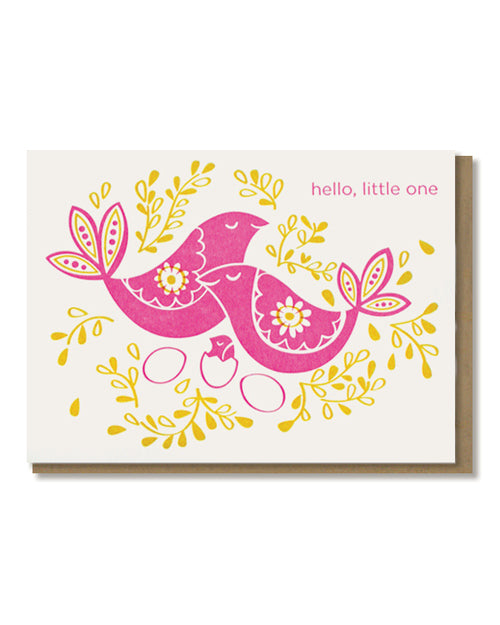 Paper Parasol Press - Hello Little One Birds Card -  - Stomping Grounds