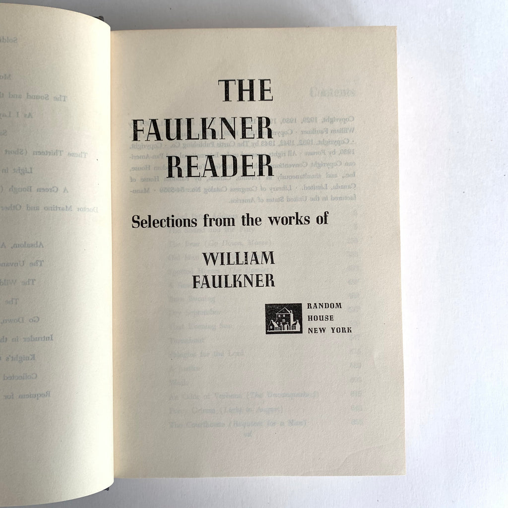 Vintage Book- The Faulkner Reader by William Faulkner