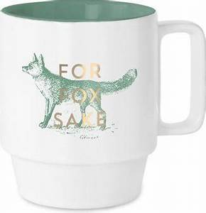 Stackable Ceramic Mug- For Fox Sake - Gift - Stomping Grounds