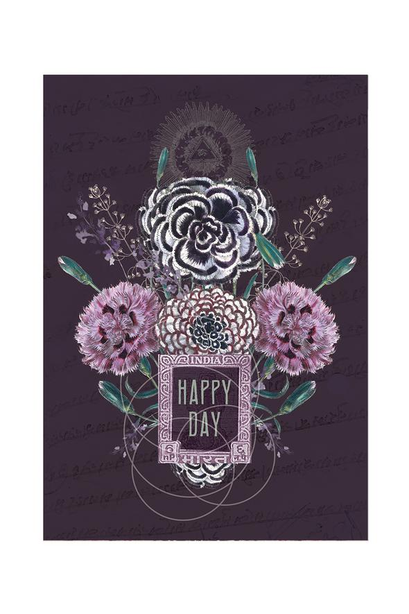 Happy Flowers - Notecard - Stomping Grounds
