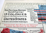Political History of the Original 13 Colonies - Timeline Wall Decal