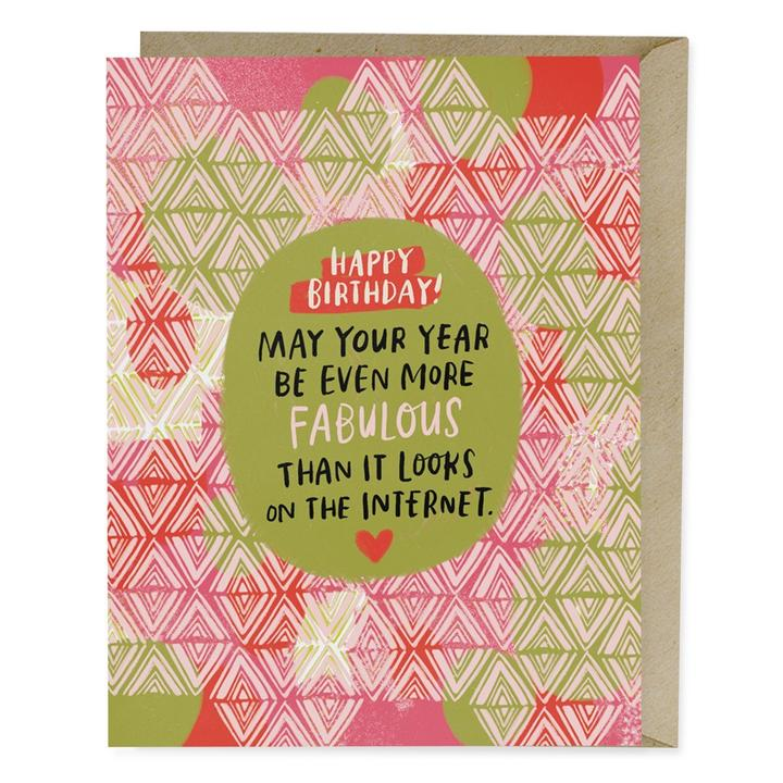 Internet Fabulous Birthday Card - Notecard - Stomping Grounds