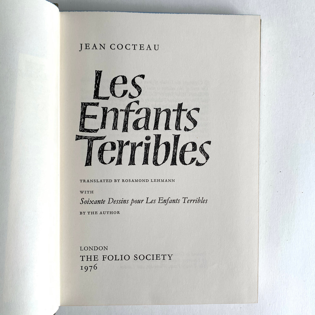 Vintage Book- Les Enfants Terribles by Jean Cocteau