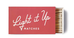 White Safety Matches- Light it Up