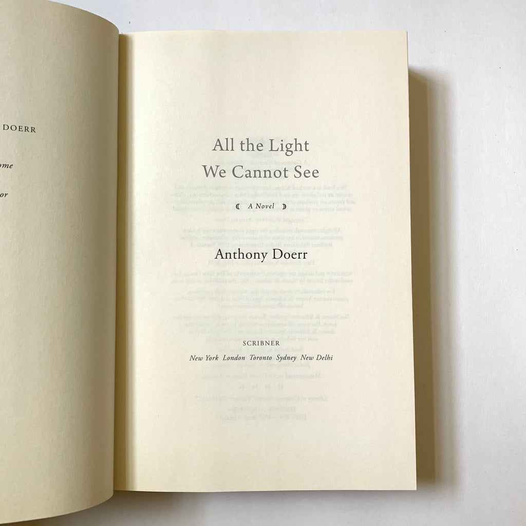 Vintage Book- All the Light We Cannot See by Anthony Doerr (Signed Copy)