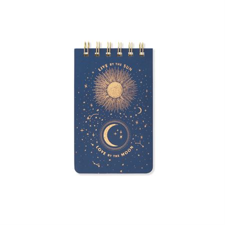 Cloth Twin Wire Notepad- Midnight Blue - Journals & Notebooks - Stomping Grounds