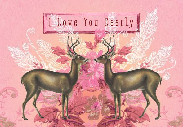 Love You Deerly - Notecard - Stomping Grounds