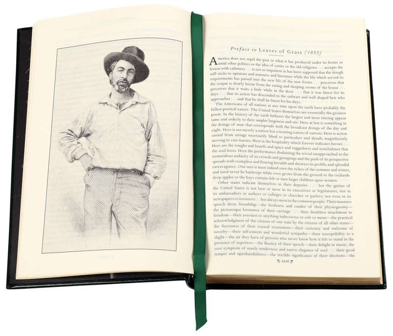 Leaves of Grass by Walt Whitman - Leatherbound Edition