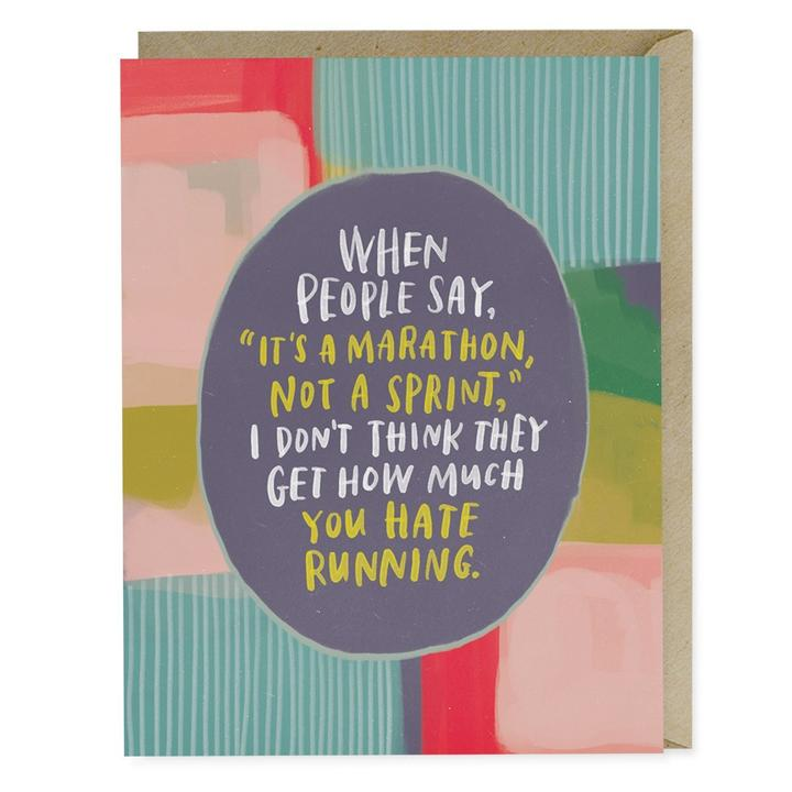 It's a Marathon Empathy Card - Notecard - Stomping Grounds