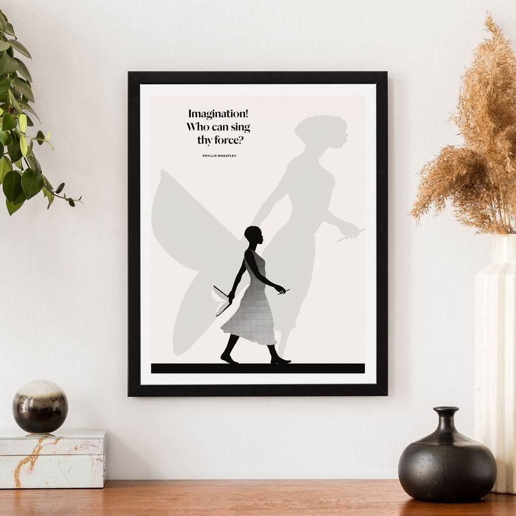 Literary Art Print- Imagination!