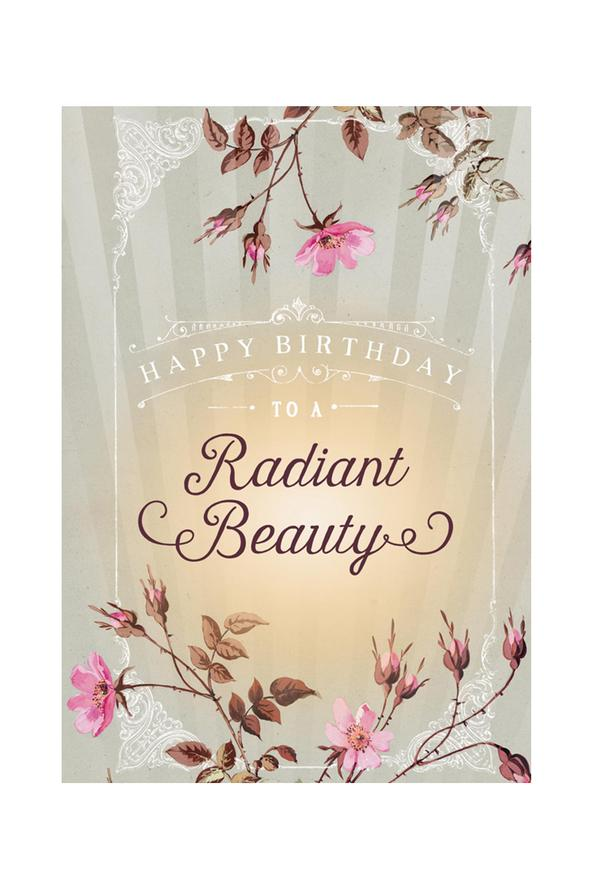 Radiant Beauty- Birthday - Notecard - Stomping Grounds