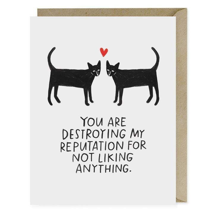 Destroying Reputation Love Card - Notecard - Stomping Grounds