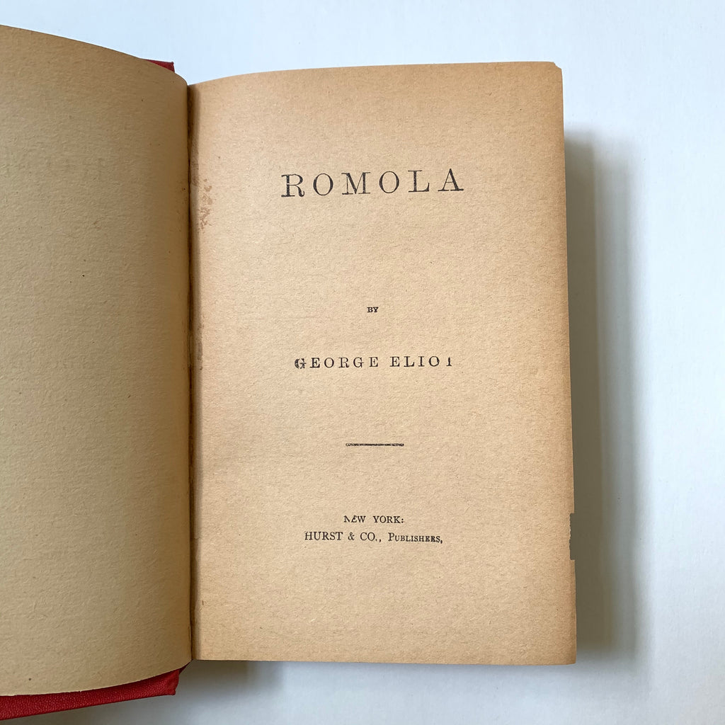 Vintage Book- Romola by George Eliot