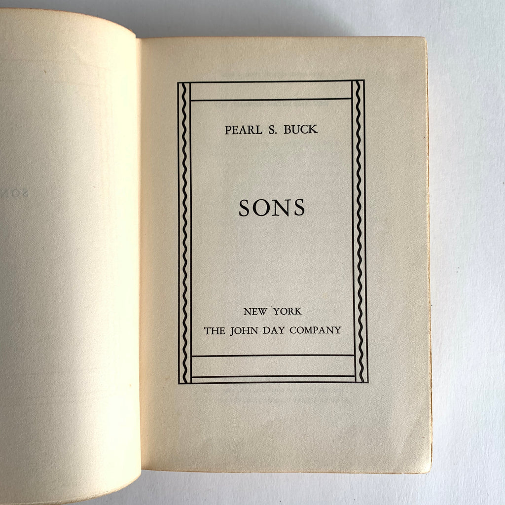 Vintage Book- Sons by Pearl S. Buck