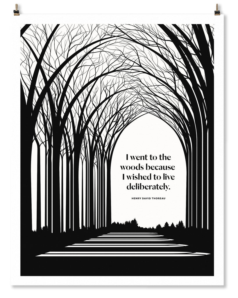 Literary Art Print- Thoreau
