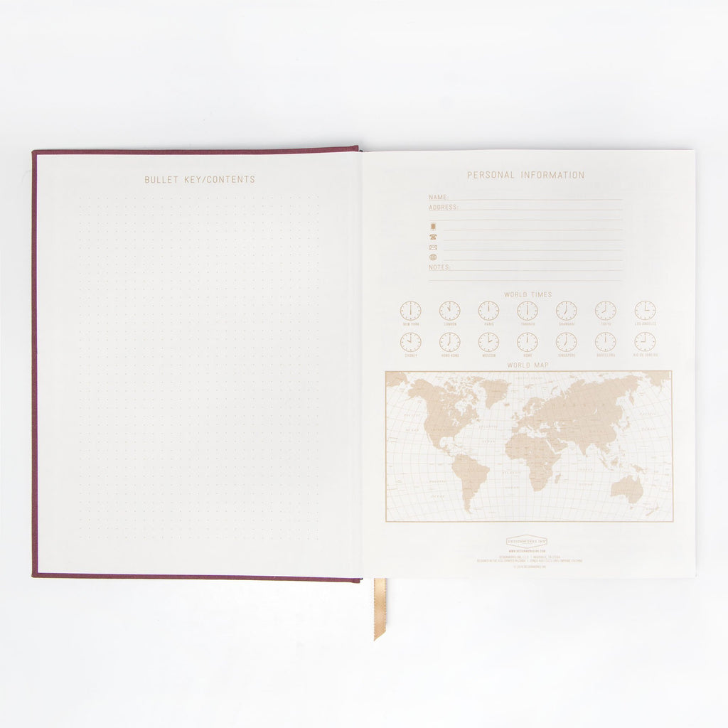 "LINEAR CLOTH JOURNAL | BURGUNDY LINEAR CURVES ""THOUGHTS"""