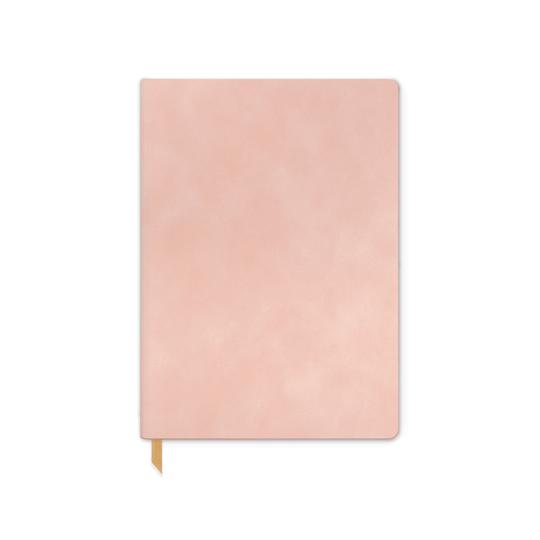 Vegan Suede Journal- Dusty Blush - Journals & Notebooks - Stomping Grounds