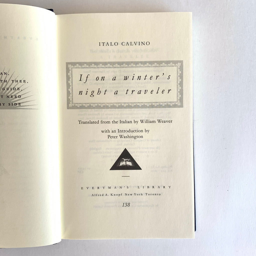 Vintage Book- If on a Winter's Night a Traveler by Italo Calvino