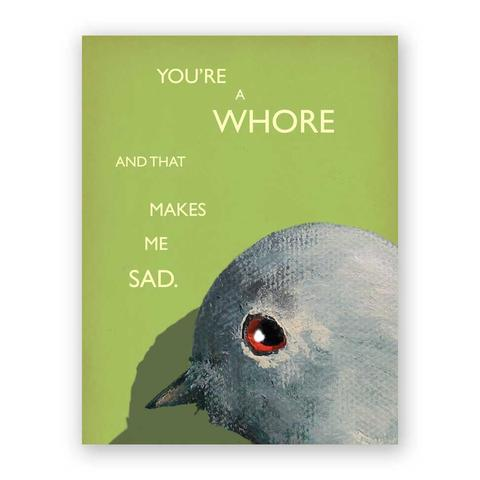 Whore Card - Notecard - Stomping Grounds