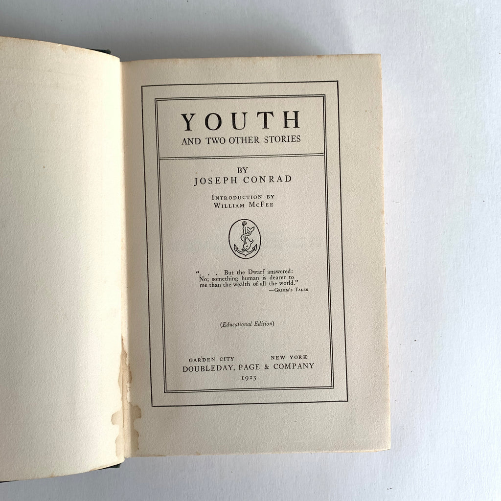 Vintage Book- Youth by Joseph Conrad