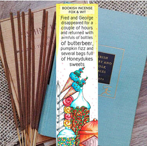 Bookish Incense- Honeydukes, Harry Potter
