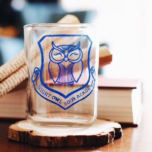 Set of two Night Owl drinking glasses