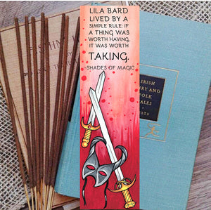 Bookish Incense- Shades of Magic, Lila