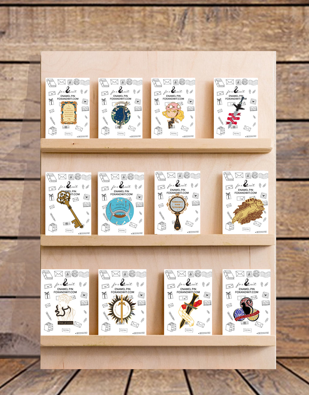 Enamel Pin Shelf