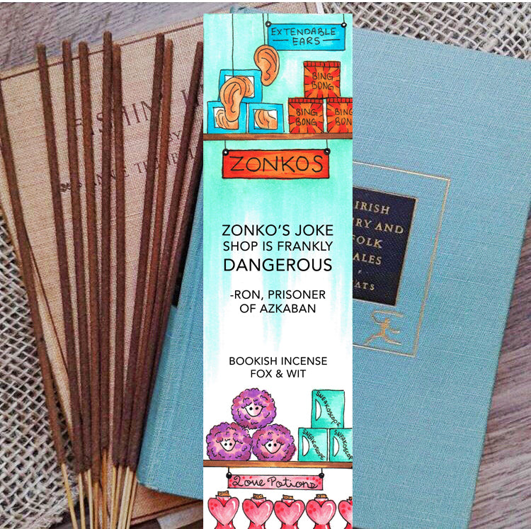 Bookish Incense- Zonkos, Harry Potter