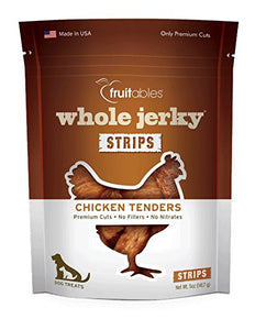 Fruitables Whole Jerky Roasted Chicken Strips Dog Treats