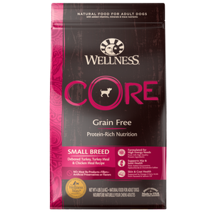 Wellness Core Small Breed Dog Food- Deboned Turkey, Turkey Meal, and Chicken Meal