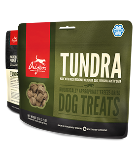 Orijen Tundra Freeze Dried Treats Dog.  3.25oz