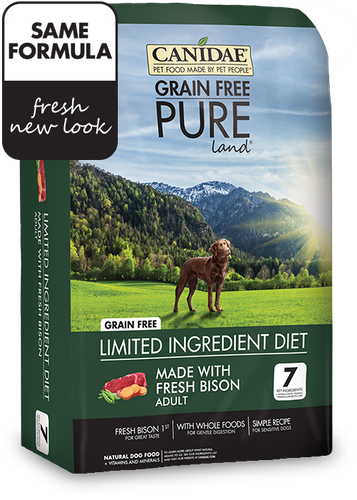 Canidae Grain Free Dog Food - Pure Land Bison