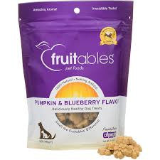 Fruitables Crunchy Pumpkin & Blueberry Dog Treats