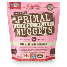 Primal Freeze Dried Cat Food - Beef & Salmon