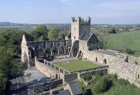 Birds eye view of Jerpoint Abbey