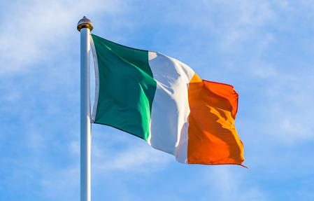 Irish Flag waving proudly