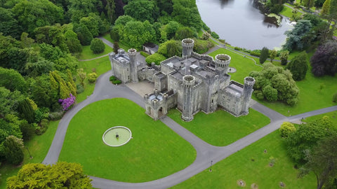 Bird's eye view of the Johnstown Castle Estate