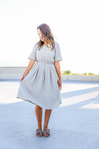 Gray Midi Dress Logan Utah