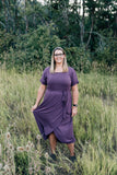 Purple Wrap Dress