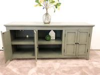 Grey Farmhouse TV console