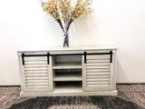 Farmhouse Slider TV Console