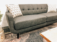 Crystal Charcoal Sofa and Love Set