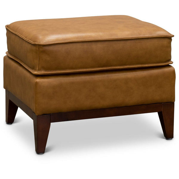 Camel Leather Ottoman