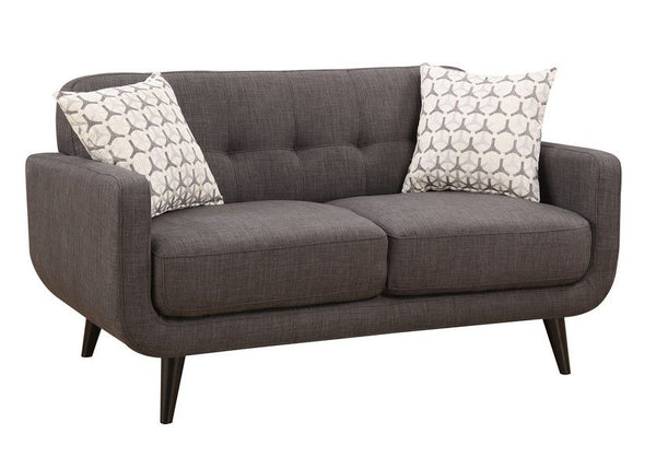 Charcoal Stick Leg Loveseat