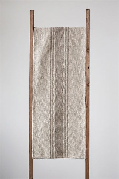 Table runner with khaki stripe