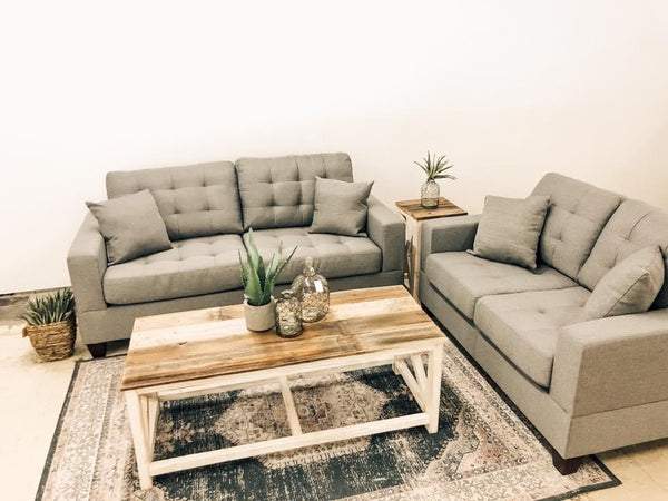 Kona Grey Sofa and Love set