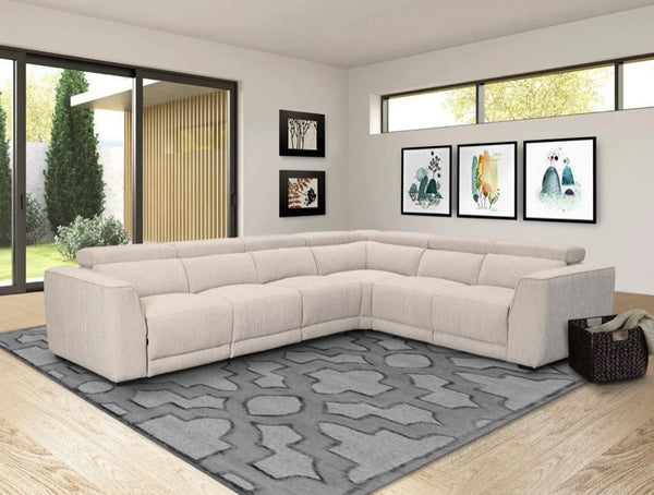 Bisque Power Reclining Sectional