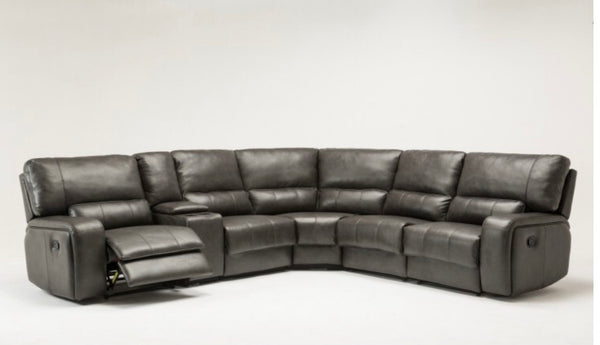 Gun Metal Manual Reclining Sectional