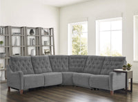 Willow Grey Power Reclining Sectional